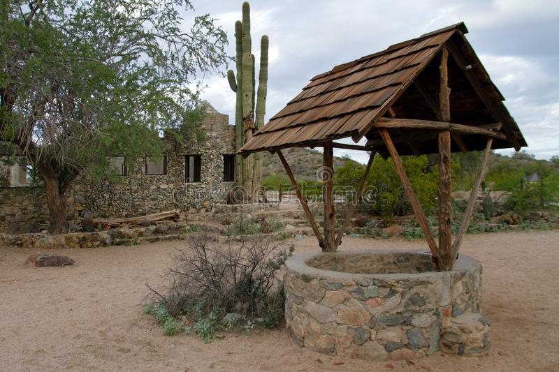 Phoenix Arizona Historic Landmark Scorpion Gulch. Scorpion Gulch store is located in South Mountain Park in south Phoenix, Arizona, on Central Avenue South royalty free stock image