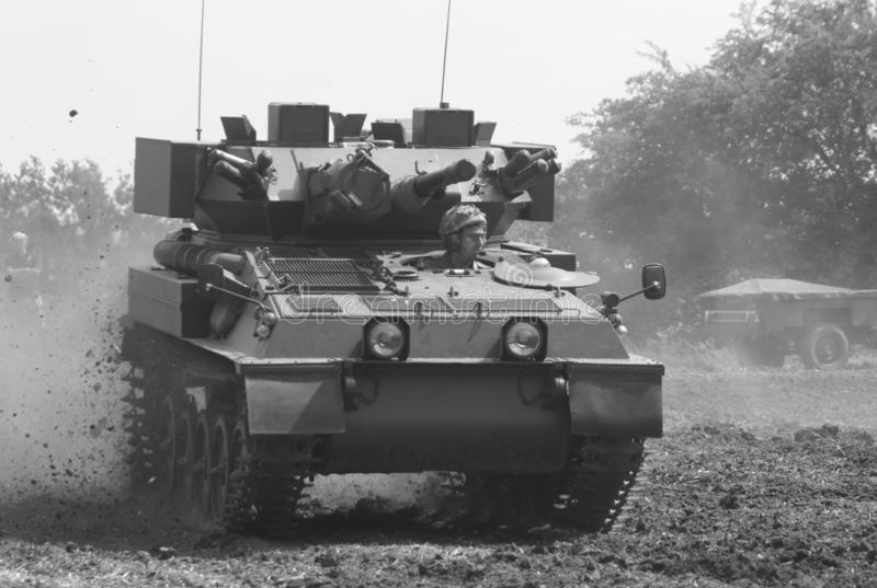 Scorpion at speed cross-country. Tank, army, cvrt, cross-country, crosscountry, lighttank, reconnaissance, recce, coldwar, britisharmy, military stock photos