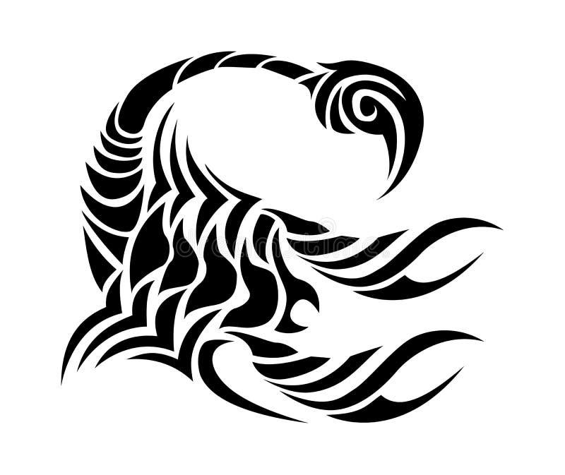 18 Stunning Tribal Scorpion Tattoo: Scorpion Tribal Tattoo Stock Illustration. Illustration Of