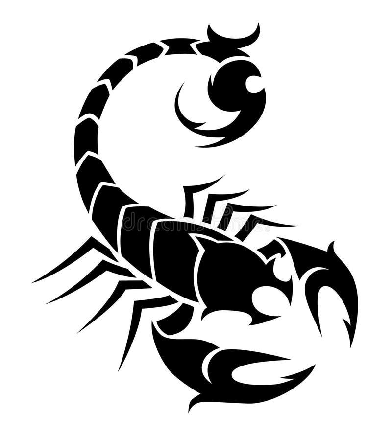Scorpione nero illustrazione di stock