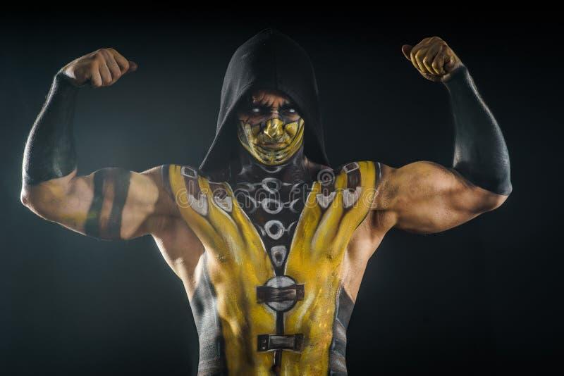 Scorpione professionale di body art e di trucco immagine stock libera da diritti