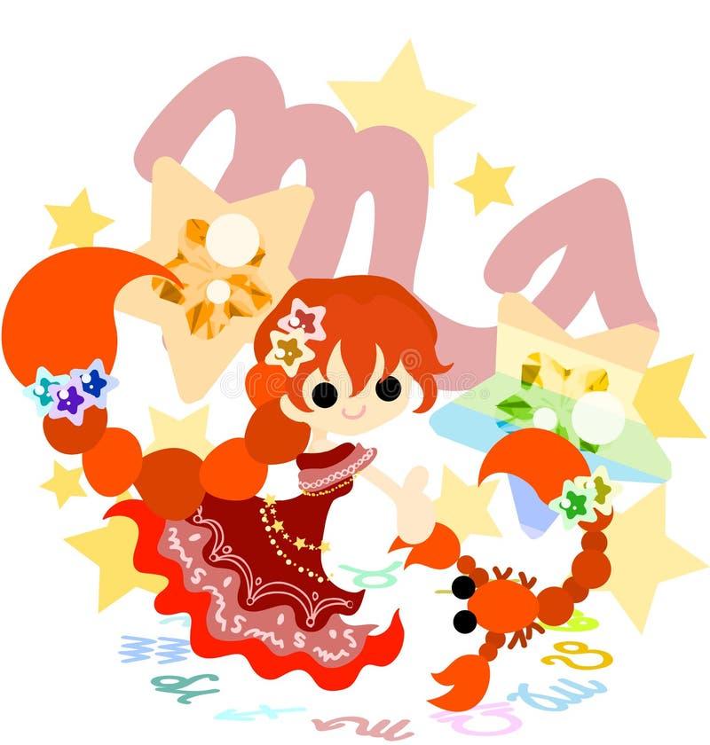 ~Scorpius~ do horóscopo ilustração royalty free