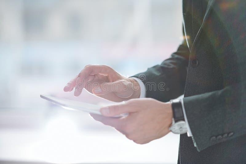 Scorrimento nel touchpad immagini stock libere da diritti