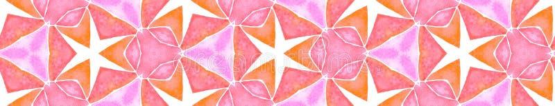 Scorrimento senza bordi color arancione rosa Geomet fotografie stock libere da diritti