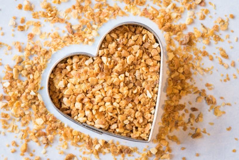 Scorza d'arancia sana del cuore immagini stock