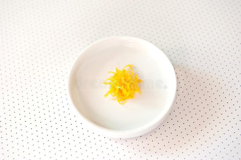 Scorza di limone fotografie stock libere da diritti