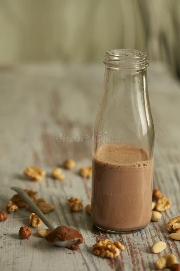 Scossa del latte al cioccolato immagini stock libere da diritti