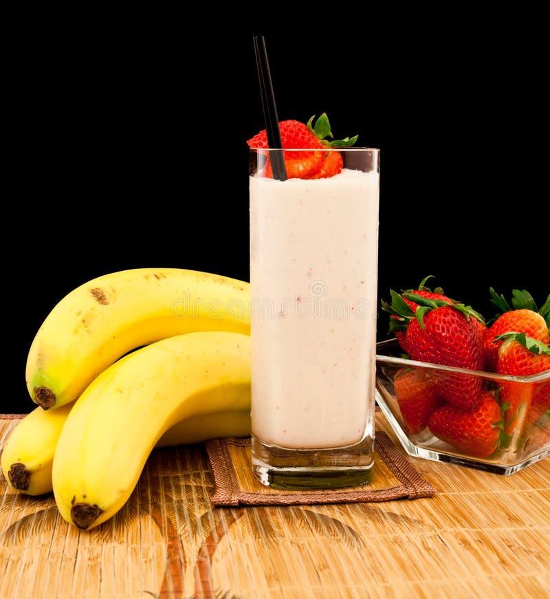 Scossa della banana fotografie stock libere da diritti