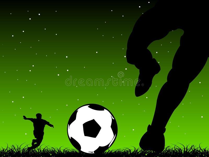 Scossa di gioco del calcio fotografia stock libera da diritti