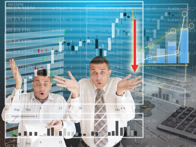 Scossa finanziaria immagini stock