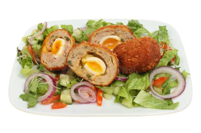 Scotch egg salad royalty free stock photo