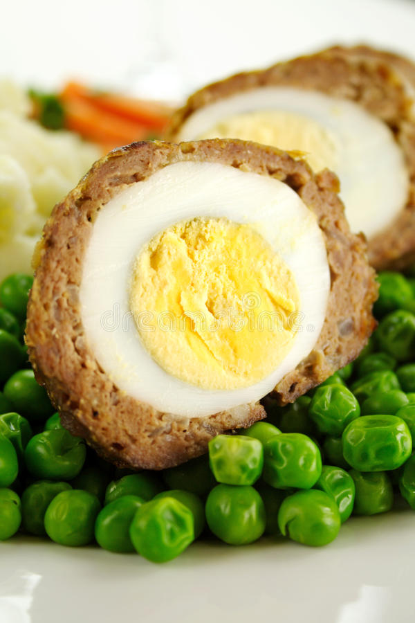 Download Scotch Eggs stock image. Image of halves, beef, lunch - 15450137