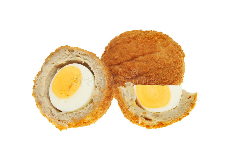 Scotch Eggs On White Stock Photography