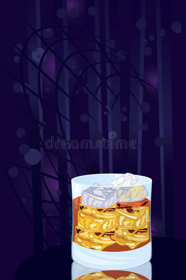 Download Scotch on rocks stock vector. Image of club, blue, refreshing - 23294885