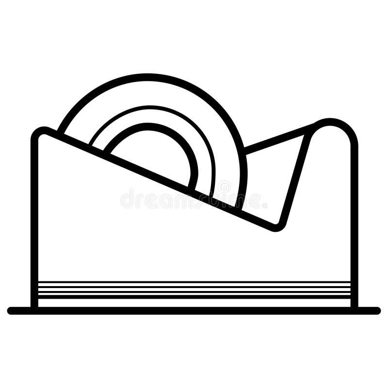 Scotch tape icon vector illustration