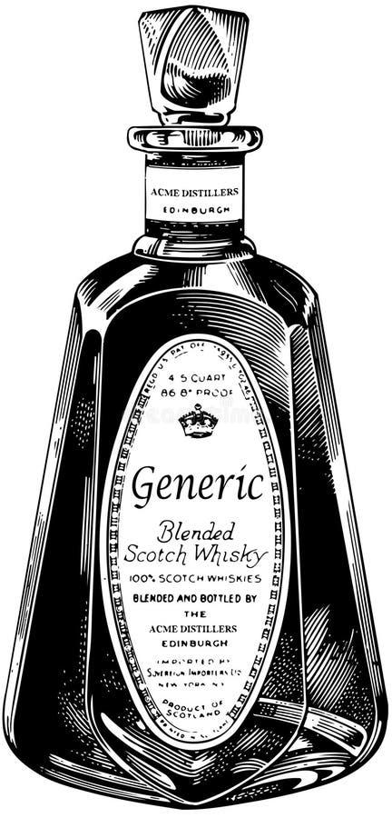 scotch whiskey för flaska vektor illustrationer