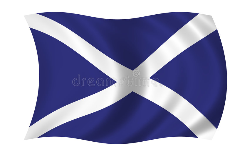 Scotish flag. Waving scotish flag - flag of Scotland