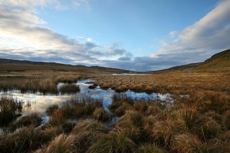 Scotland amarra no nascer do sol foto de stock
