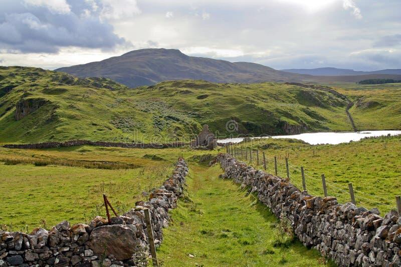 Scotland do norte - ruínas imagem de stock royalty free