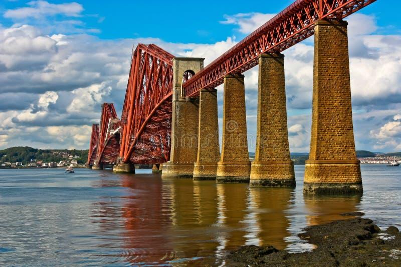 Scotland Firth Of Forth Bridge Stock Photo