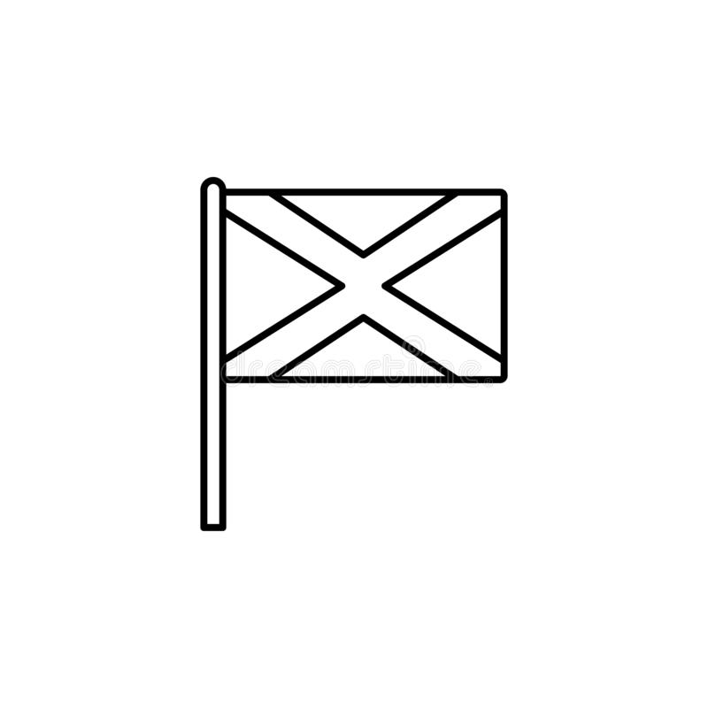 Scotland icon. Element of flag icon for mobile concept and web apps. Thin line Scotland icon can be used for web and mobile stock illustration