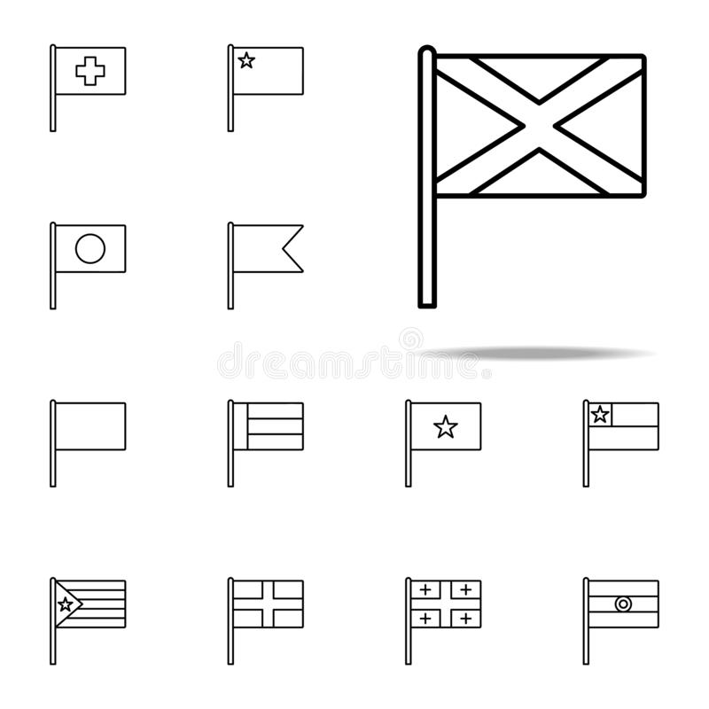 Scotland icon. flags icons universal set for web and mobile vector illustration