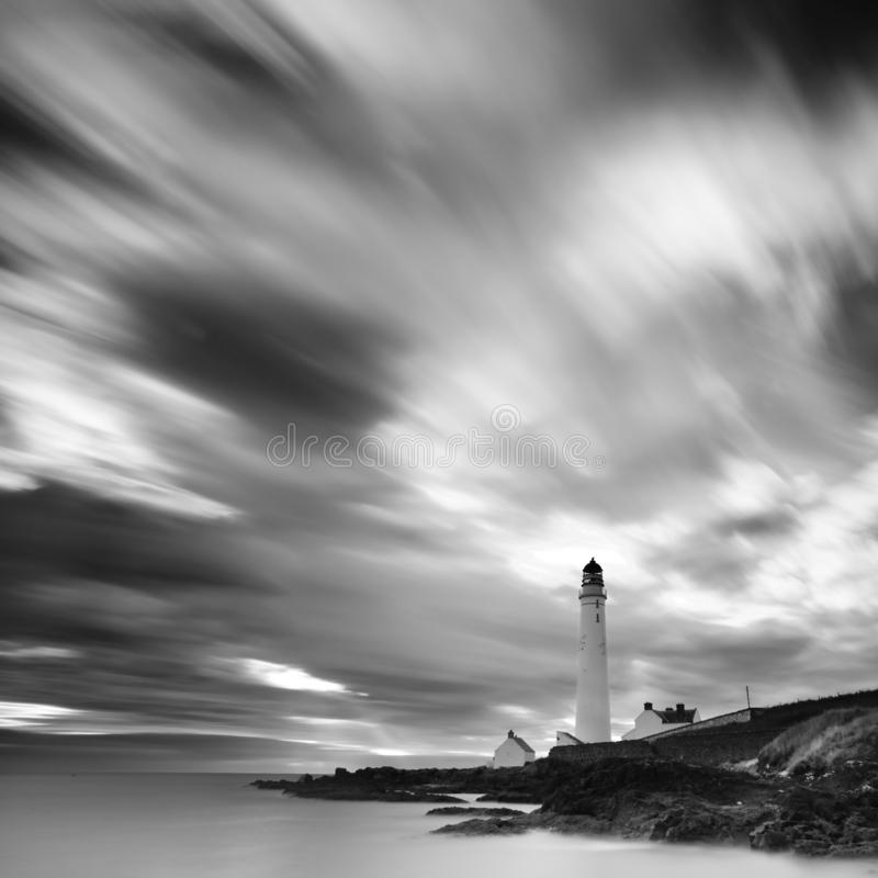 Scotland landscape black and white. Famous tourist attractions and landmarks destination in Scotland nature.UK royalty free stock images