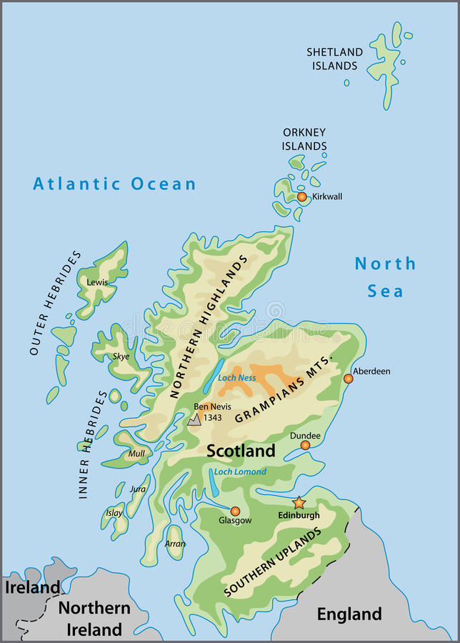 Scotland map stock vector Illustration of dundee aberdeen 10238984