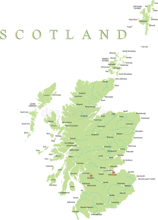 Free Scotland Map. Royalty Free Stock Images - 9183869