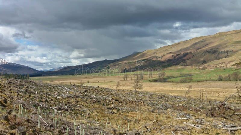 Scotland& x27 ; montagnes de s image stock