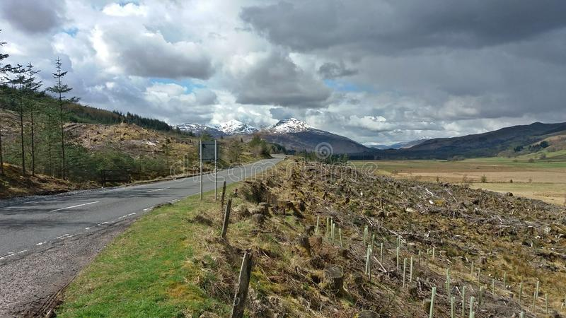 Scotland& x27 ; montagnes de s photos stock