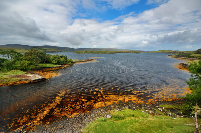 scotland podpalany skye zdjęcia stock