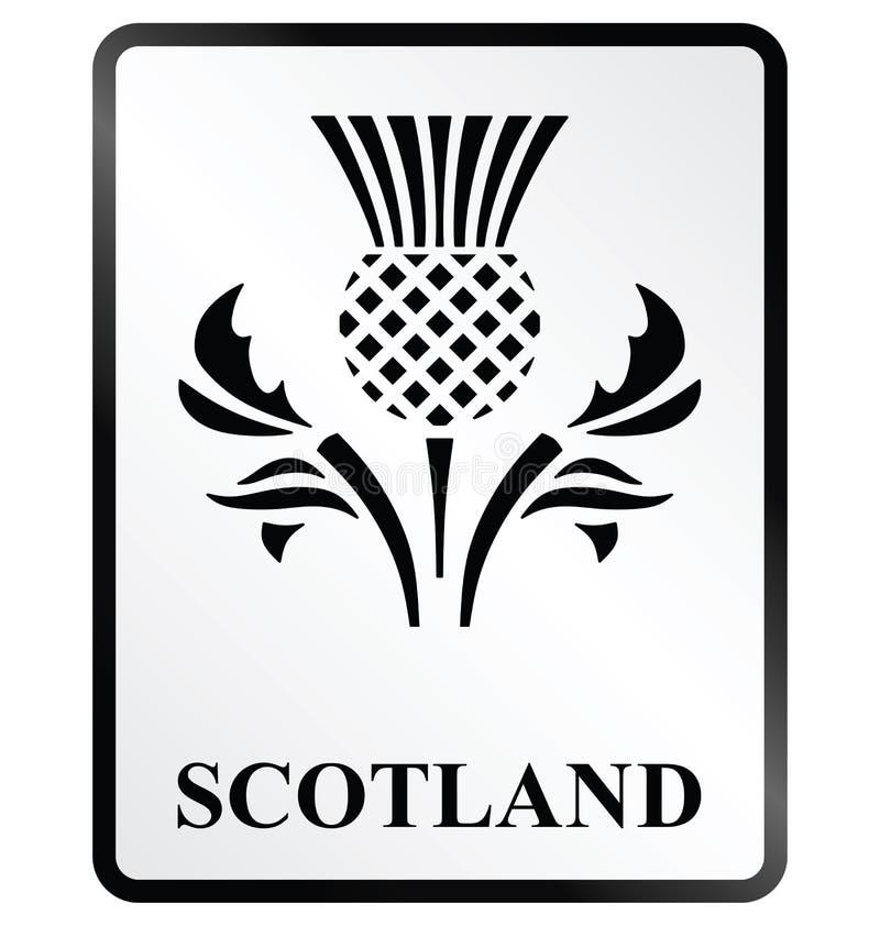 Scotland Sign. Monochrome Scotland public information sign isolated on white background vector illustration