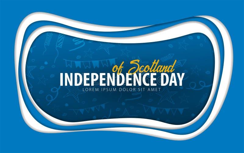 scotland Självständighetsdagenhälsningkort papperssnittstil stock illustrationer