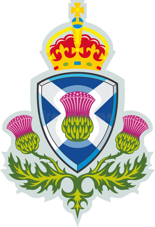 scotland skotsk symbolthistle vektor illustrationer
