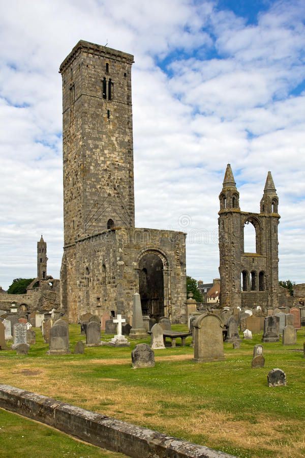 Scotland, st. andrews cathedral royalty free stock photos
