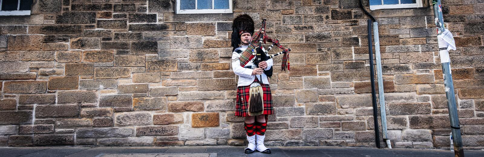 Scottish Piper Dressed In His Kilt Editorial Image - Image ...