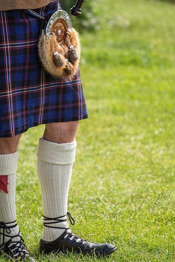 Scotlands tradionalklänning arkivbild