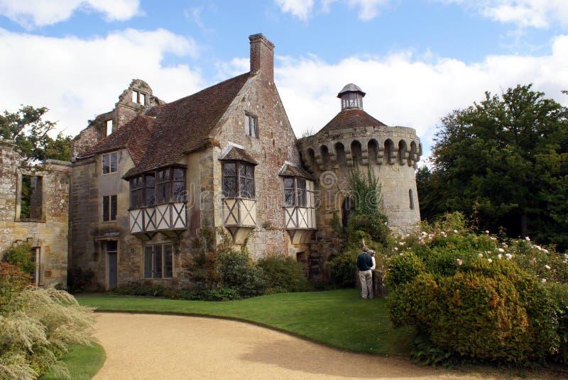 Scotney城堡在Lamberhurst,肯特,英国,欧洲 库存图片