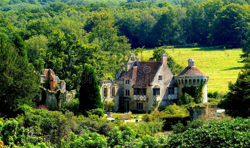 Scotney Castle & gardens in Kent - England stock image
