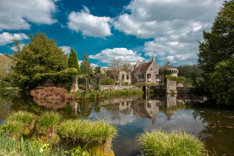Scotney Old Castle stock photo
