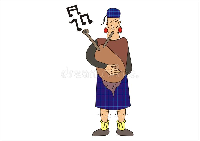 Scotsman ilustração do vetor