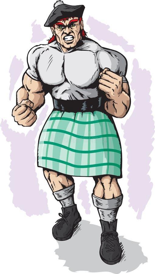 Scotsman carregado ilustração royalty free