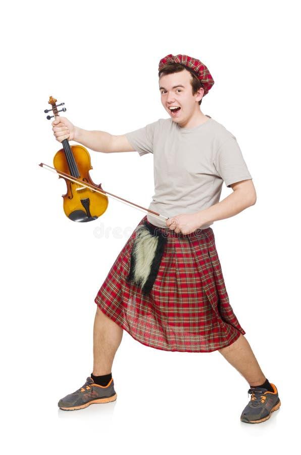 Download Scotsman Divertido Con El Violín Imagen de archivo - Imagen de instrumento, kilt: 41914267