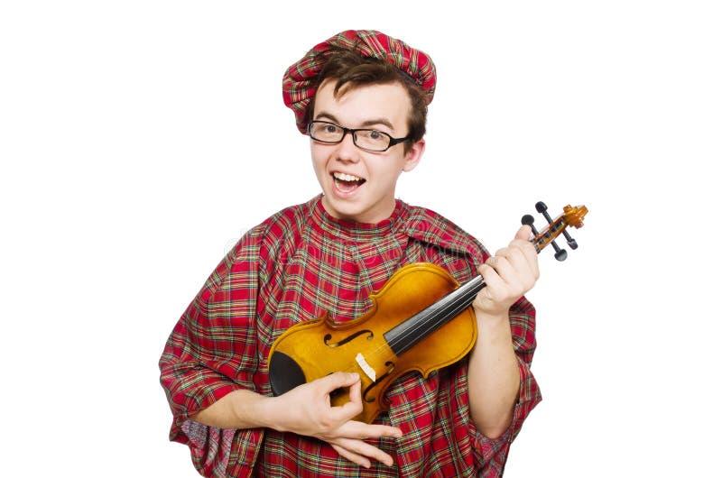 Download Scotsman Divertido Con El Violín Foto de archivo - Imagen de arte, ropa: 41914272