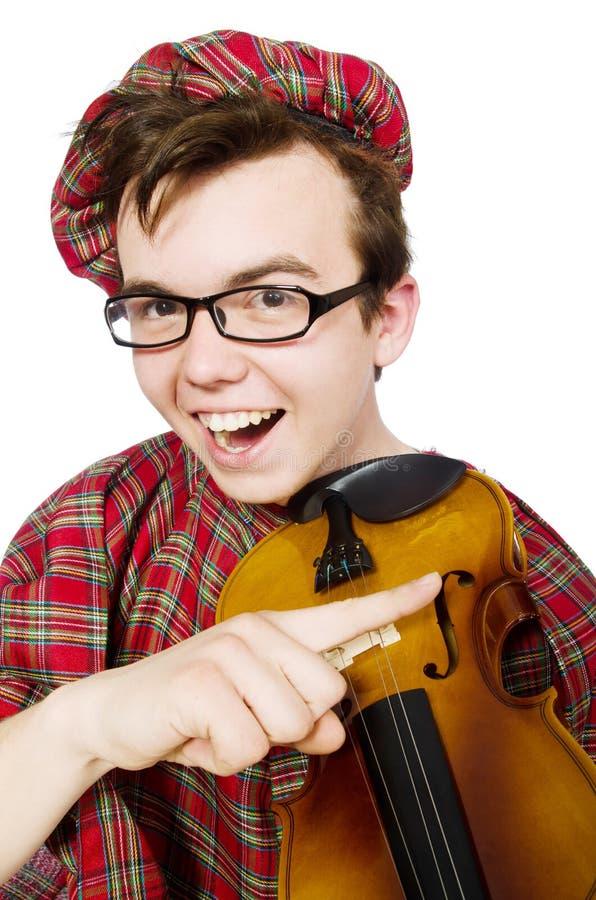 Download Scotsman Divertido Con El Violín Imagen de archivo - Imagen de clan, instrumento: 41914275