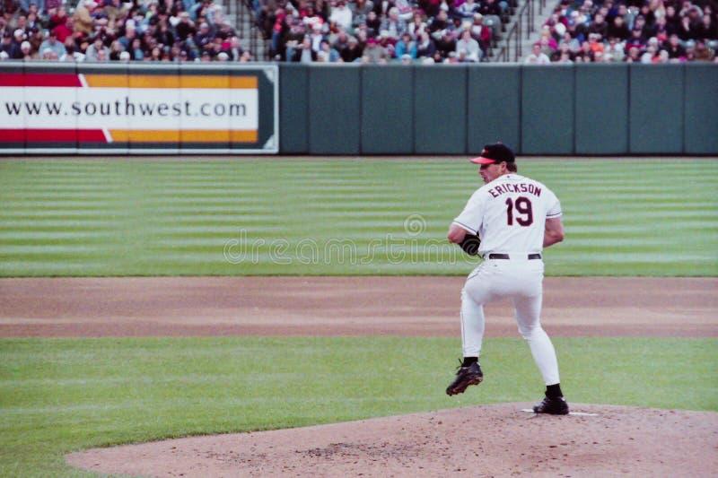 Scott Erickson, Baltimore Orioles immagine stock