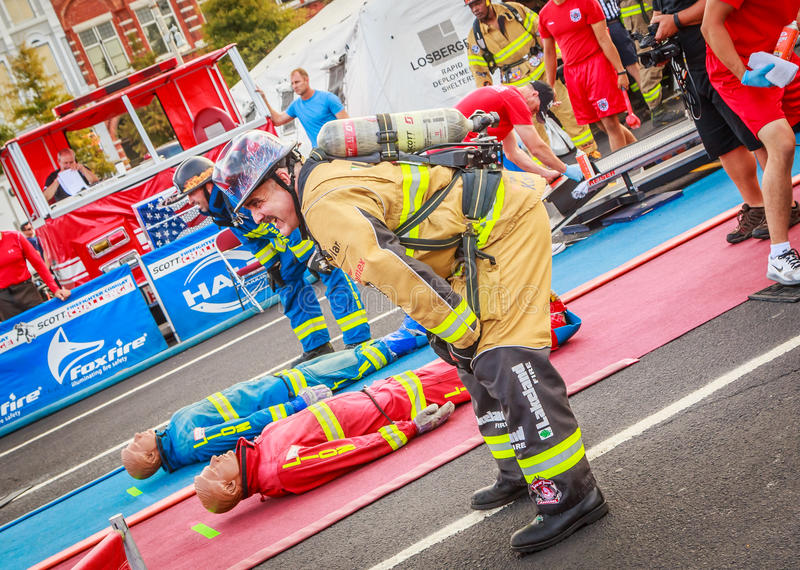 Scott Firefighter World Combat Challenge XXIV royalty-vrije stock fotografie