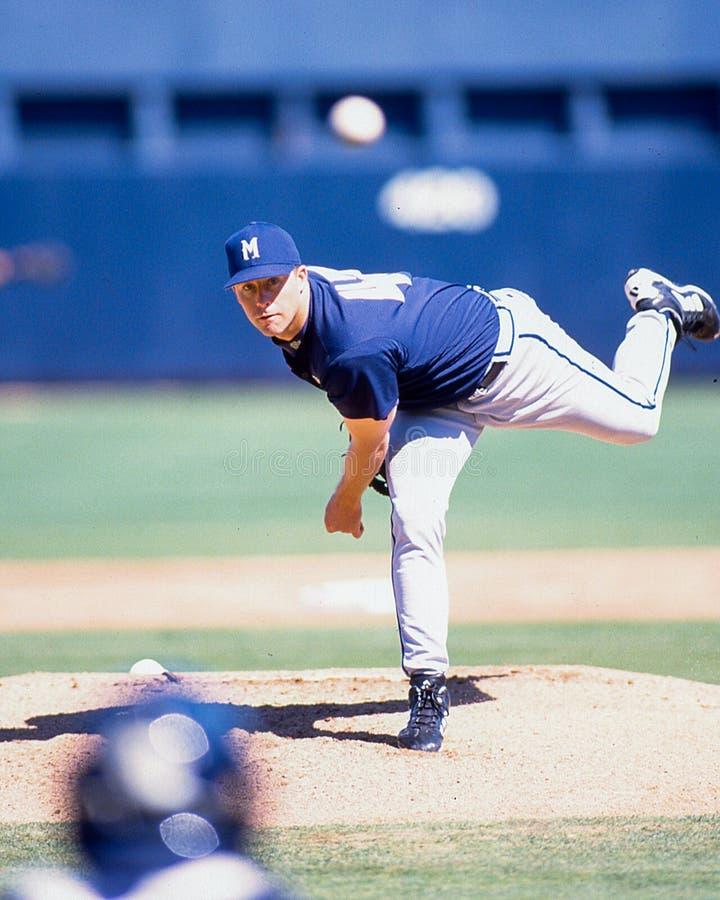Scott Karl-Pitcher Milwaukee Brewers lizenzfreie stockbilder
