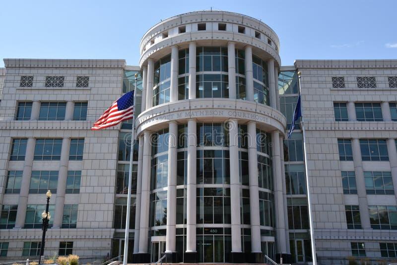Scott Matheson Courthouse em Salt Lake City fotografia de stock royalty free